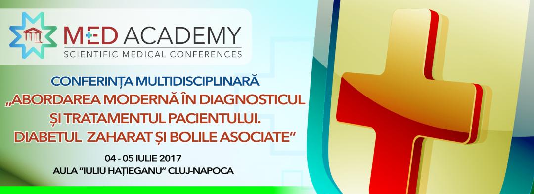 """En – Conferinta multidisciplinara """"Abordarea moderna in diagnosticul si tratamentul pacientului. Diabetul zaharat si bolile asociate"""" 04-05 iunie 2017 – Cluj"""
