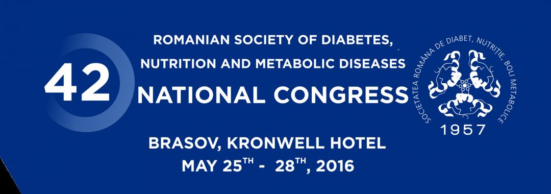 Cel de al 43-lea Congres Național al Societății Române de Diabet, Nutriție și Boli Metabolice 24-27 mai 2017 – Brasov